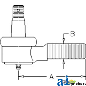 A Tie Rod End Steering Cylinder
