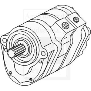 70248735 Pump Hydraulic Triple 1