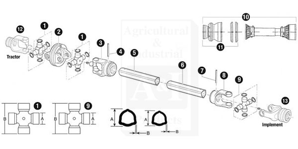 86513bh Outer Tube Yoke For Bush Hog Rotary Cutters Up