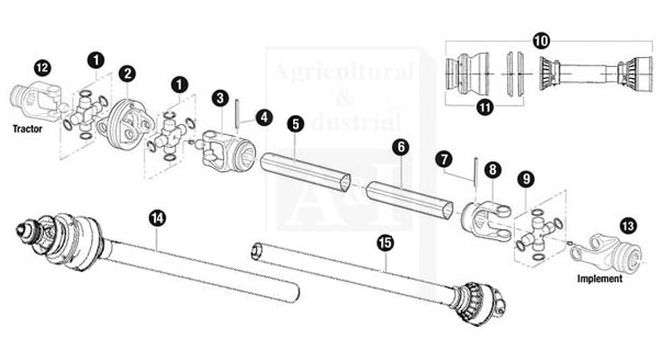 86529bh U Joint Repair Kit For Bush Hog Rotary Cutters