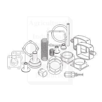farmall m steering parts diagram