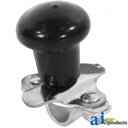 Spinner, Aluminum Steering Wheel (black plastic coated knob) - 5A6BL