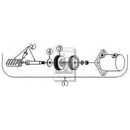 Pin (ONLY) to connect rack and rod (Ref. 2)