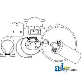 Ignition & Coil Conversion Kit; 6 Volt Positive Ground