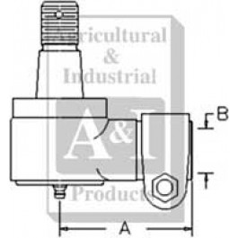 Cylinder End, Power Steering (MFWD)