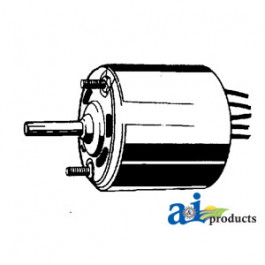 "Blower Motor - Condenser (requires shaft adapter)(12volt, 5/16"" X 2"" shaft, Rev rotation, 3 sp)"