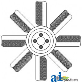 Fan, 8 Blade (Plastic)