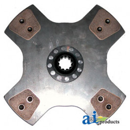 """Seperator Drive Clutch Disc: 12"""", 4-button, solid"""