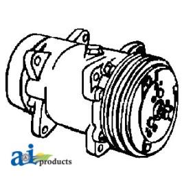 Compressor, New, Sanden Style w/ Clutch (9689)
