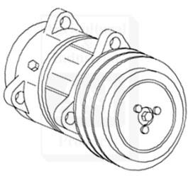Compressor, New, Sanden Style w/ Clutch (9120/5704)