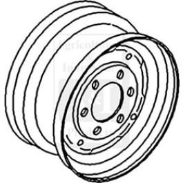 "Rim, Front Wheel 4.5"" X 16"""