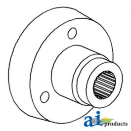 Hub, Aux. Hydraulic Pump Drive Pulley