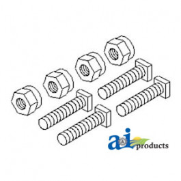 Battery Bolts & Nuts, Square Head, 5/16""