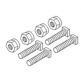 "Battery Bolts & Nuts, Square Head, 5/16"" (4 Pk)"
