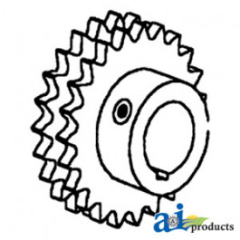 Sprocket, Jackshaft, Slat Elevator (LH)