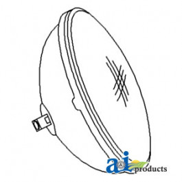 Replacement Sealed Beam, 4411, 12 Volt