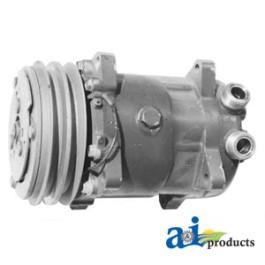 Compressor, New, Sanden Style w/ Clutch (9114)