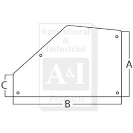 Glass, Door, Rear (RH/LH)