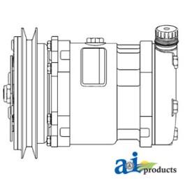 Compressor, New, Sanden Style w/ Clutch (8478)