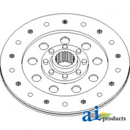 "PTO Disc: 8.858"", rigid, captive"