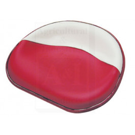 Seat Pan, Steel, Upholst., RED/WHT
