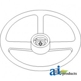"Steering Wheel, 18"" Diameter, 7/8"" Hub Hole ID W/ 36 Splines"