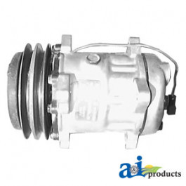 Compressor, New, Sanden Style w/ Clutch (4708)