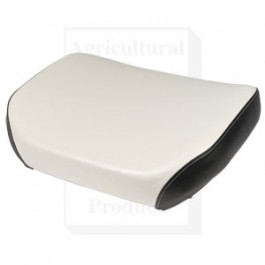 Seat Cushion, Wood Base, WHT/BLK VINYL