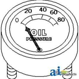 Gauge, Oil Pressure (80 lb)