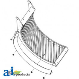 Concave, Front (Small Grain, Helical Bars)