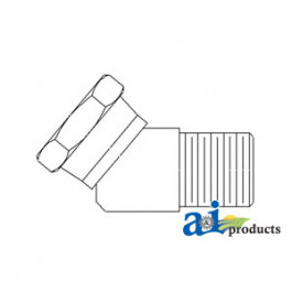 Female-Male 45 degrees Swivel Adapter