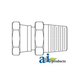 Female-Male Straight Swivel Adapter, 2 pack
