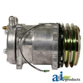 Compressor, New, Sanden Style w/ Clutch (8390)