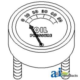 Gauge, Oil Pressure (50 lb)