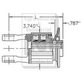 "Radial Pin Clutch, 1 3/8""- 6 QD, K34B; 8850 in.lbs"