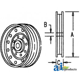 Pulley, Idler (Flanged)