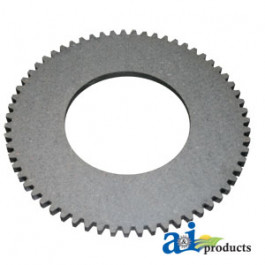 "Clutch Plate: 10.75"" OD, 5.375"" ID, 63 ext teeth, fiber machine clutch"