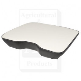 Seat Cushion, Wood Base, WHT/BLK