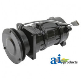 """Compressor, New, A6 w/ Clutch (1 groove 5.58"""" pulley, 12V, 10:00 coil)"""