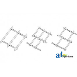 Chain Assembly; Front Feederhouse, 3 Strand, Serrated Slats