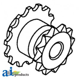 Sprocket w/ Threaded Bore, Fan Shaft