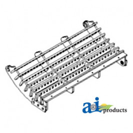 Concave Grate, Lo-Wire, Narrow Spaced; Chrome
