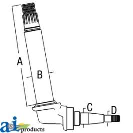 TAPER-LOK Upright Shaft, RH Steering Arm