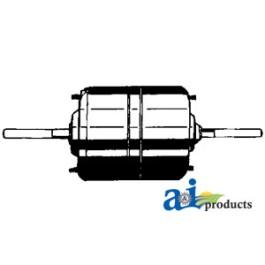 "Blower Motor (4 wire)   (12volt, 3/8"" X 4 1/4"" shaft, Rev rotation, 3sp)"
