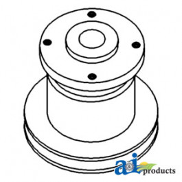 Pulley, Water Pump; Square Bolt Pattern