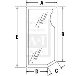 Glass, Front, Lower (RH)