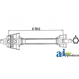 "Complete 80 Degree CV Driveline; 1000 RPM, 1 3/8""- 21 Spline"