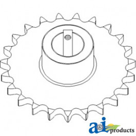 Sprocket, Upper Clean Grain Elevator