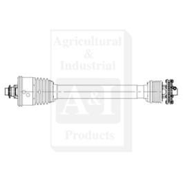 Round Baler Driveline; 540 RPM, BP Size S6, SFT CV W/ Slip Clutch