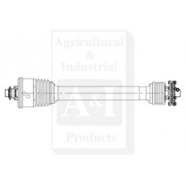 Round Baler Driveline; 1000 RPM, BP Size S4, SFT CV W/ Slip Clutch
